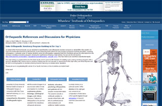 Wheeless Textbook of Orthopedics website