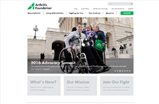 Arthritis Foundation website